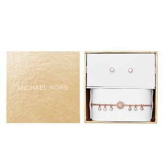 Michael Kors Ladies' Rose Gold Tone Jewellery Gift Set - Product number 8031916