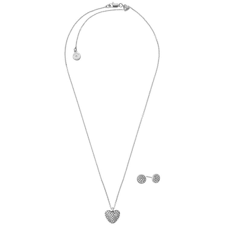 Michael Kors Stainless Steel Heart Pedant Stud Earrings Set - Product number 8031924