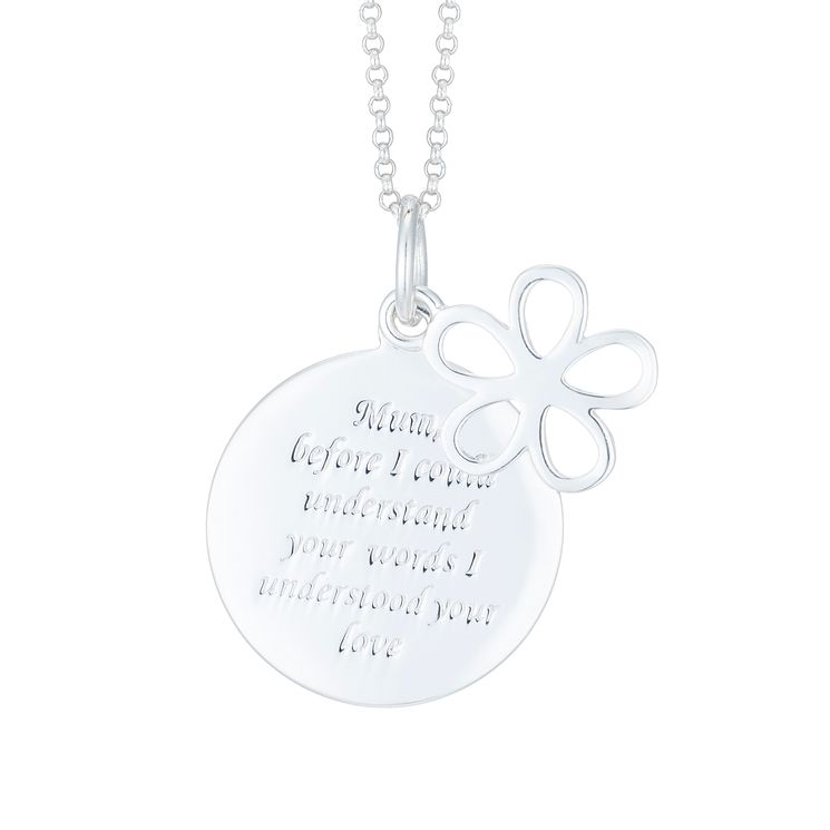 Sterling Silver Mum Pendant - Product number 8032424
