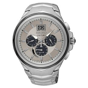 Seiko Coutura Men's Steel Bracelet Chronograph Watch - Product number 8032505