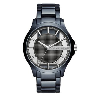 Armani Exchange Hampton Men's Blue Steel Bracelet Watch - Product number 8033552