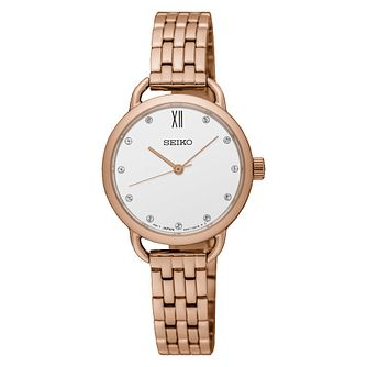 Seiko Ladies' Rose Gold Plated Steel Bracelet Watch - Product number 8035105