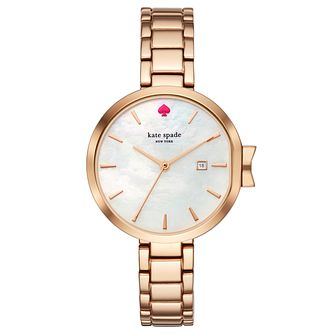 Kate Spade Rose Gold Tone Park Row Strap Watch - Product number 8039135