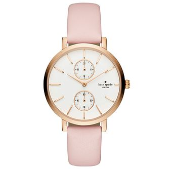 Kate Spade Monterey Ladies' Rose Gold-Tone Pink Strap Watch - Product number 8039194