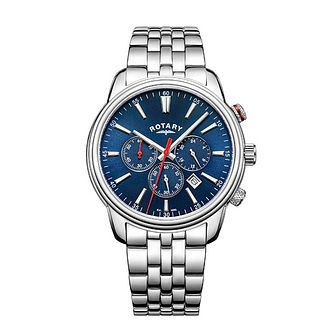 Rotary Monaco Men's Stainless Steel Blue Dial Bracelet Watch - Product number 8042632