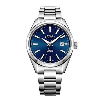 Rotary Havana Men's Stainless Steel Blue Dial Bracelet Watch - Product number 8042640