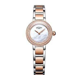 Rotary Cocktail Ladies' Two Colour Stone Set Watch - Product number 8043051