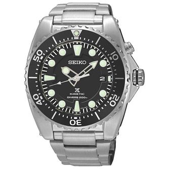 Seiko Prospex Men's Stainless Steel Black Bracelet Watch - Product number 8043094