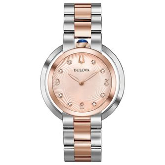 Bulova Ladies' Two Colour Stainless Steel Bracelet Watch - Product number 8043558
