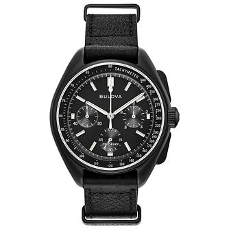 Bulova Lunar Pilot Chronograph Men's Black Strap Watch - Product number 8043698