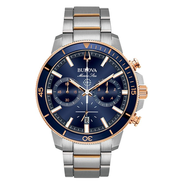 Bulova Men's Stainless Steel Chronograph Bracelet Watch - Product number 8043728