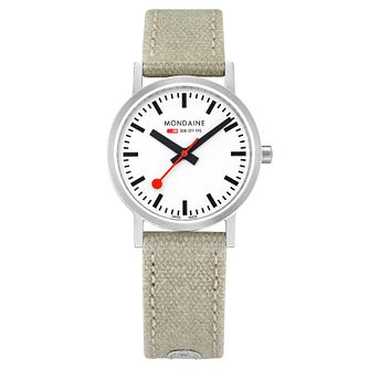 Mondaine Ladies' Simply Elegant Fabric Strap Watch - Product number 8043744
