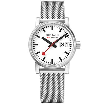 Mondaine Ladies' Evo2 Big Stainless Steel Mesh Strap Watch - Product number 8043892
