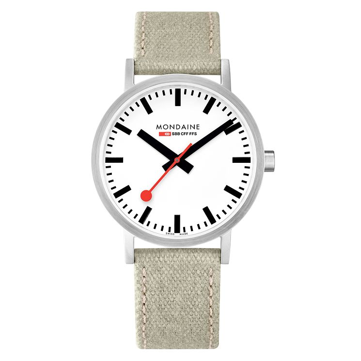Mondaine Classic Men's Fabric Strap Watch - Product number 8043949