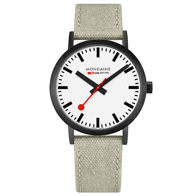 Mondaine Classic Men's Fabric Strap Watch - Product number 8043965