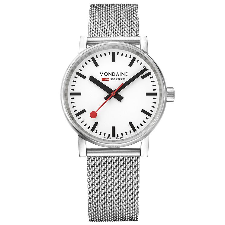 Mondaine Men's Evo2 Stainless Steel Mesh Strap Watch - Product number 8044015
