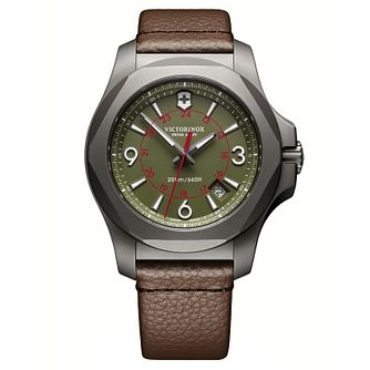 Victorinox I.N.O.X. Men's Brown Leather Strap Watch - Product number 8044171