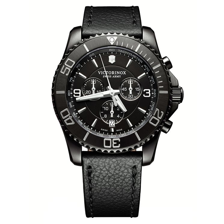 Victorinox Men's Maverick Chronograph Leather Strap Watch - Product number 8044201