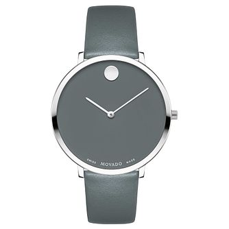 Movado Museum Ladies' Stainless Steel Grey Strap Watch - Product number 8046085