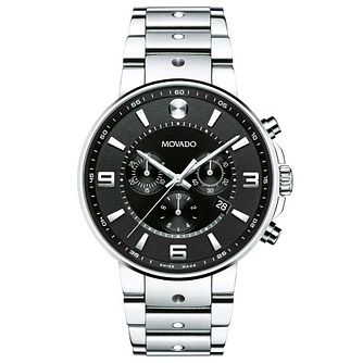 Movado SE Pilot Men's Stainless Steel Black Bracelet Watch - Product number 8046093