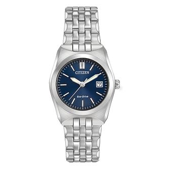 Citizen Ladies' Eco Drive Corso Stainless Steel Watch - Product number 8046131