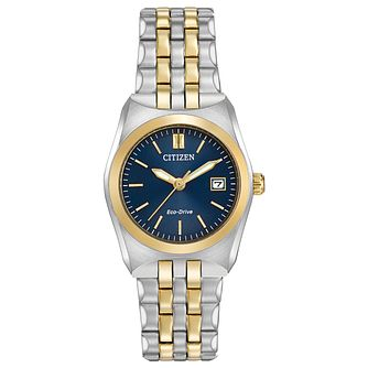 Citizen Ladies' Eco Drive Two Colour Corso Bracelet Watch - Product number 8046166