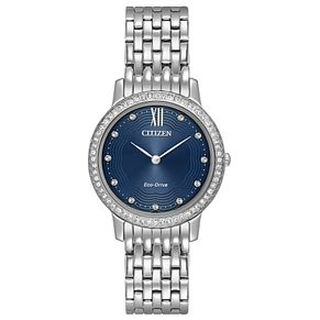 Citizen Ladies' Eco Drive Silhouette Crystal Blue Watch - Product number 8046204
