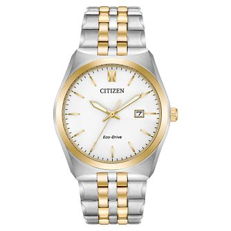 Citizen Men's Eco Drive Two Colour Bracelet Watch - Product number 8046255
