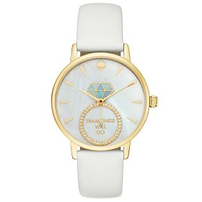 Kate Spade Metro Ladies' Yellow Gold-Tone Strap Watch - Product number 8046379