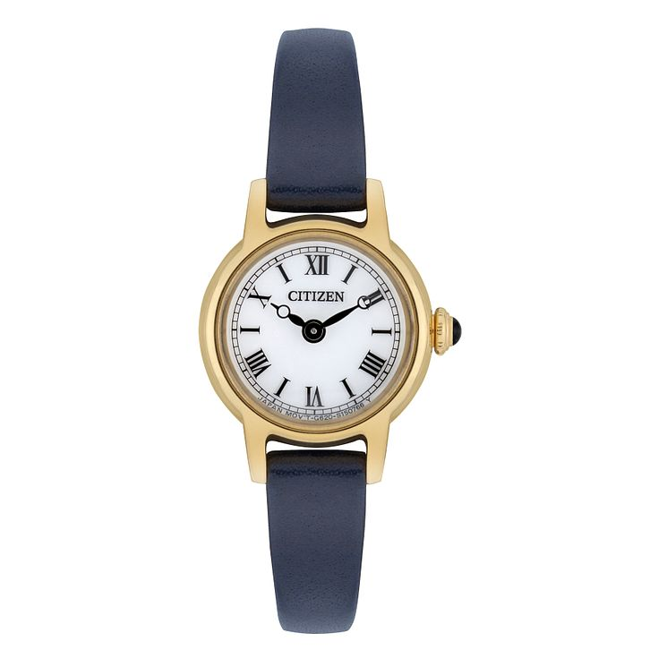 Citizen Ladies' Navy Blue Leather Strap Watch - Product number 8048711