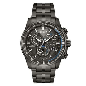 Citizen Eco-Drive Men's Black Stainless Steel Bracelet Watch - Product number 8048789
