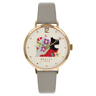 Radley London Basket Bouquet Ladies' Grey Leather Watch - Product number 8048843