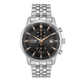 Citizen Eco-Drive Men's Stainless Steel Bracelet Watch - Product number 8048908