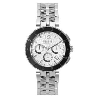 Versus Versace Mens Silver Tone Chronograph Bracelet Watch - Product number 8049343