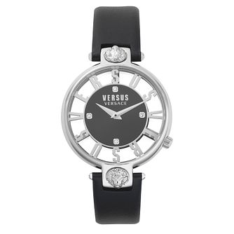 Versus Versace Kirstenhof Ladies' Black Leather Strap Watch - Product number 8049920