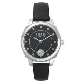 Versus Versace Chelsea Ladies' Black Leather Strap Watch - Product number 8050104