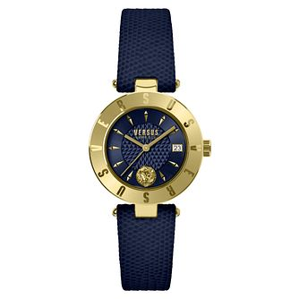 Versus Versace Ladies' Blue Leather Strap Watch - Product number 8050279