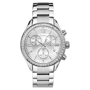 Timex Ladies' Silver Dial Stainless Steel Bracelet Watch - Product number 8050589