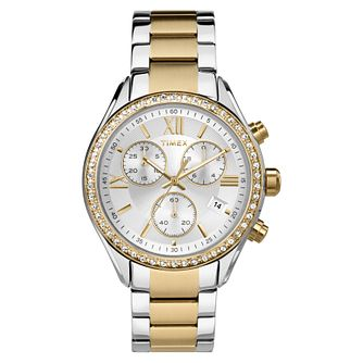 Timex Ladies' Two Tone Stainless Steel Bracelet Watch - Product number 8050635