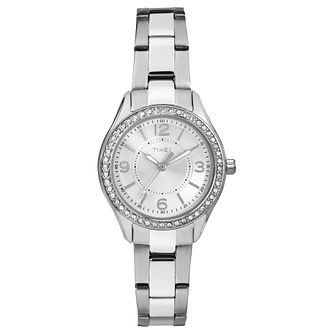 Timex Ladies' Silver Dial Stainless Steel Bracelet Watch - Product number 8050643