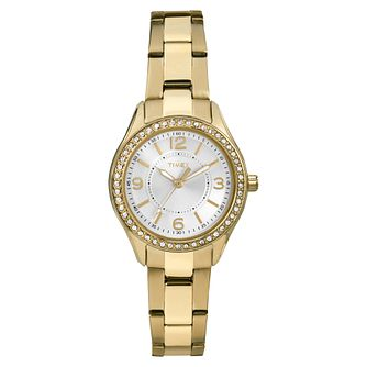 Timex Ladies' Gold Tone Stainless Steel Bracelet Watch - Product number 8050678