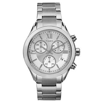 Timex Ladies' Silver Dial Stainless Steel Bracelet Watch - Product number 8050686