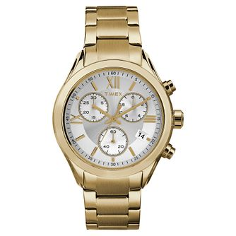 Timex Ladies' Style Gold Tone Stainless Steel Bracelet Watch - Product number 8050694