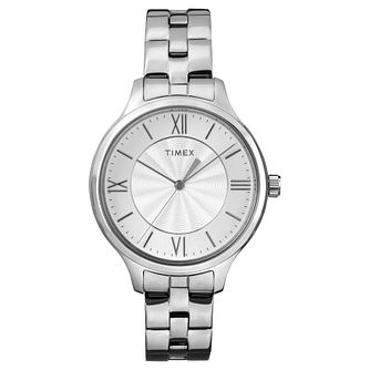 Timex Ladies' Silver Dial Stainless Steel Bracelet Watch - Product number 8050740