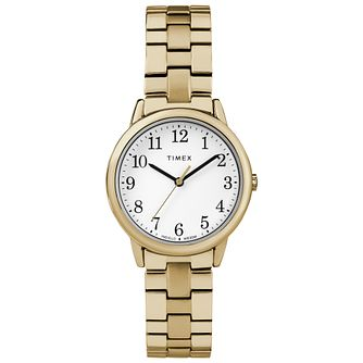 Timex Ladies' Easy Reader Gold Tone Expandable Strap Watch - Product number 8050783