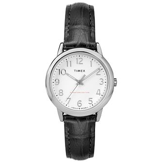 Timex Ladies' Easy Reader Black Leather Strap Watch - Product number 8051070