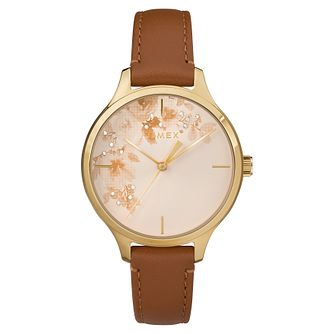 Timex Ladies' Tan Dial Tan Leather Strap Watch - Product number 8051968