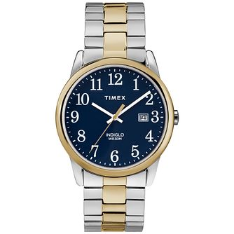 Timex Men's Easy Reader Two Tone Steel Bracelet Watch - Product number 8054223