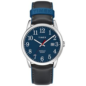 Timex Men's Easy Reader Blue Dial Blue Leather Strap Watch - Product number 8054460