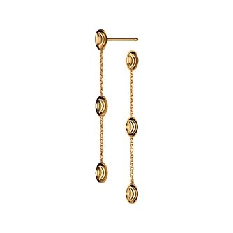 Links of London Essentials Yellow Gold Plated Drop Earrings - Product number 8056196